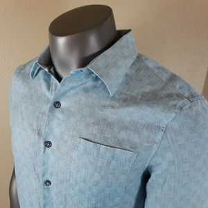 NAT NAST Geometric Shirt Size Large Linen